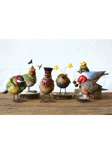 Warm Design Dekoratif Kuş Obje Renkli